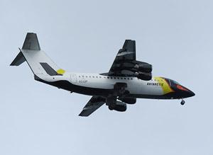 Aero volo crociera in antartide
