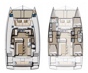Catamarano Bali dotazione